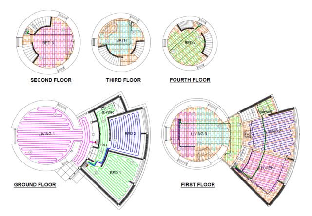 CAD Designs for Underfloor Heating